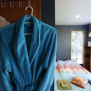 Bathrobes in the Guest Room for your comfort